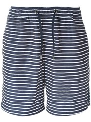 Michael Kors Striped Swim Shorts Blue