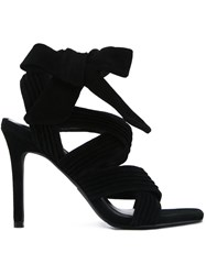 Senso 'Samantha' Tie Up Heeled Sandals Black