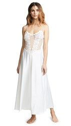 Flora Nikrooz Showstopper Charmeuse Gown With Lace Ivory
