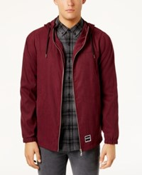 Ezekiel Men's Sealand Hooded Jacket Burgundy