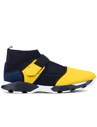 Marni High Top Sneaker In Selva On Drill With Strap