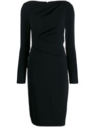 Talbot Runhof Fitted Dress Black