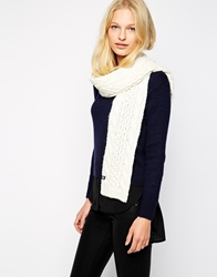 The North Face Minna Cable Knit Scarf Vintagewhite