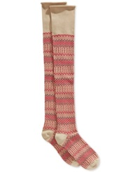 Lucky Brand Jacquard Texture Over The Knee Socks