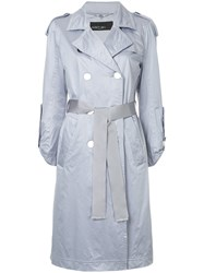 Marc Cain Belted Trench Coat Pink And Purple