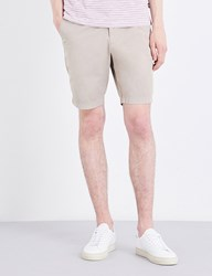 Boss Regular Fit Stretch Cotton Shorts Open Beige