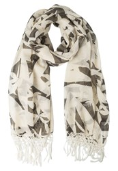 Roxy Giulia Scarf Vintage Palm Line Big Combo Off White