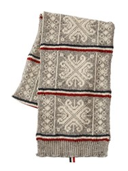 Thom Browne Wool And Mohair Knit Scarf