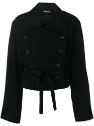 Ann Demeulemeester Asymmetrical Oversize Jacket Cotton Rayon Virgin Wool Black