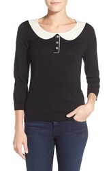 Women's Cece By Cynthia Steffe Peter Pan Collar Sweater