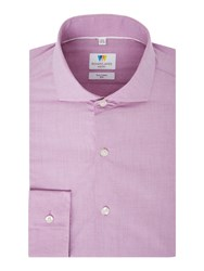 Richard James Men's Mayfair Chambray Slim Fit Shirt Lilac