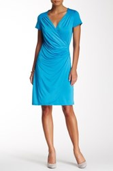 24 7 Comfort Solid Wrap Front Dress Multi