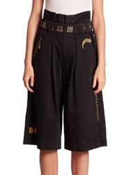 Marc Jacobs Long Cargo Shorts Black