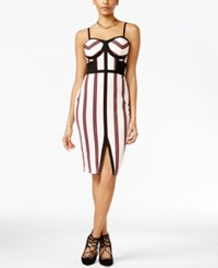 Material Girl Juniors' Striped Bodycon Dress Only At Macy's Egret Combo