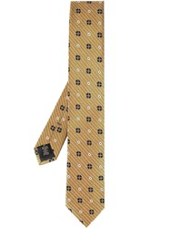 Ermenegildo Zegna Patterned Tie Yellow