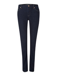 Lands' End Low Rise Denim Slim Jeans Blue