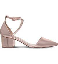 Miss Kg Ava Criss Cross Metallic Court Shoes Bronze