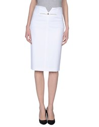 Vdp Collection Skirts 3 4 Length Skirts Women White