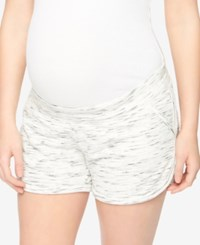 Motherhood Maternity French Terry Shorts White Space Dye