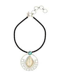 Robert Lee Morris Cool As Ice Circle Pendant Necklace Multi