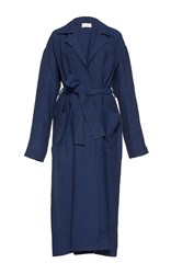 Isa Arfen Long Safari Coat Blue