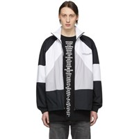 Vetements Black And White Cotton Track Jacket