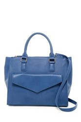 Urban Expressions Marlowe Vegan Leather Satchel Blue