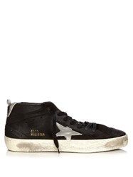 Golden Goose Midstar Suede Trainers Black