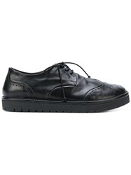 Marsell Flatform Brogues Leather Rubber Black