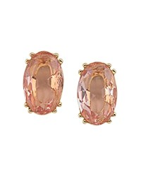 Carolee Faceted Stud Earrings Peach Gold