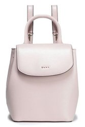 Dkny Woman Textured Leather Backpack Baby Pink
