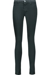 J Brand Theory Super Skinny Mid Rise Jeans Gray Green