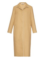 Nina Ricci Single Breasted Wool Blend Coat