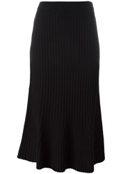 Twin Set Ribbed Knit Skirt Black