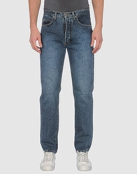 Cotton Belt Denim Pants Blue