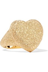 Carolina Bucci Florentine Heart 18 Karat Gold Ring