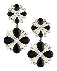 Amrita Singh Two Tone Floral Drouble Drop Earrings