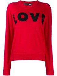 Love Moschino Knit Jumper Red