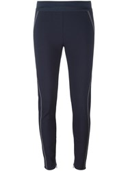Stella Mccartney Stitching Detail Leggings Blue