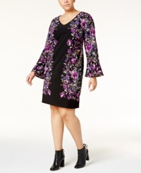 Inc International Concepts Plus Size Bell Sleeve Sheath Dress Created For Macy's Bamboo Blossom