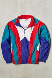 Vintage Reebok Windbreaker Jacket Red Multi