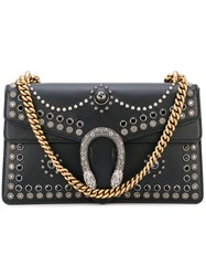 Gucci Dionysus Studded Shoulder Bag Women Leather Metal Glass One Size Black