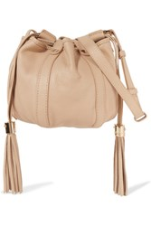 See By Chloe Vicki Mini Textured Leather Bucket Bag Beige