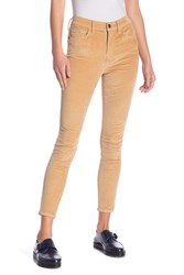 Current Elliott High Waist Corduroy Skinny Pants Barley