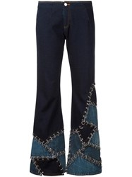 Jean Paul Gaultier Vintage Crushed Effect Jeans Blue
