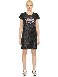 Karl Lagerfeld Pop Sequined Jersey Dress