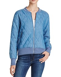 Minkpink Quited Denim Bomber Jacket 100 Bloomingdale's Exclusive Chambray