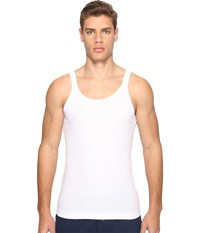 Dolce And Gabbana Stretched Rib Cotton Marcello Tank Top White