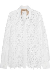 N 21 No. 21 Open Back Macrame Lace Shirt White