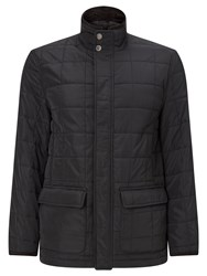 John Lewis Quilted Nylon Jacket Black